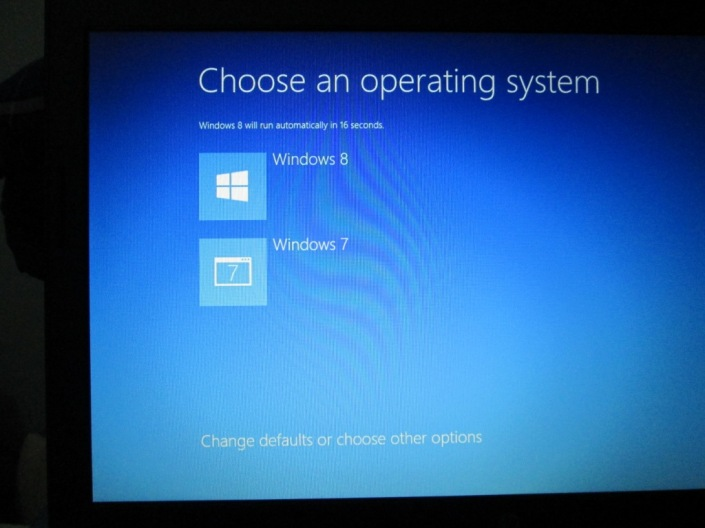 Tampilan Dual Boot Windows 8